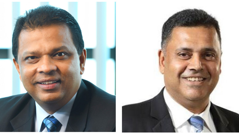 Managing Director/CEO, Jonathan Alles and  DGM - Retail and SME Banking, Sanjay Wijemanne