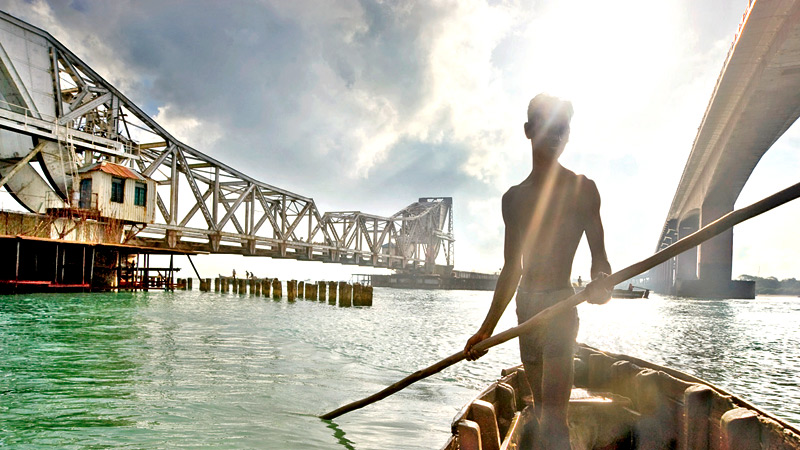 A bridge was proposed to be built linking India and Sri Lanka
