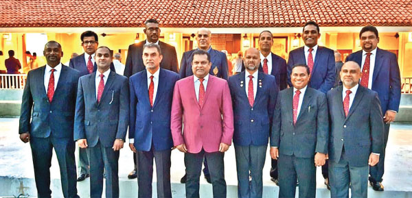 The newly elected Committee Members of the Colombo Gymkhana Club