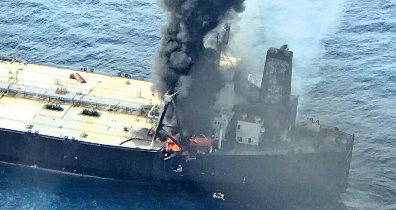 Indian Oil's crude carrier catches fire off Sri Lanka