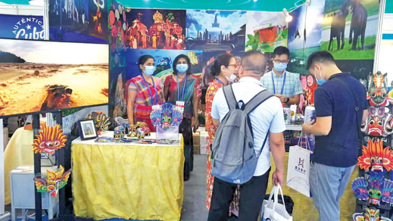 A Lankan stall at the Guangzhou Fair.