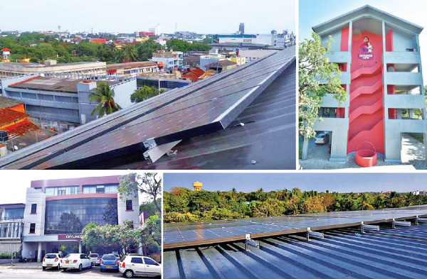 The solar panel installations at Ceylinco Life's branches in Jaffna and Anuradhapura