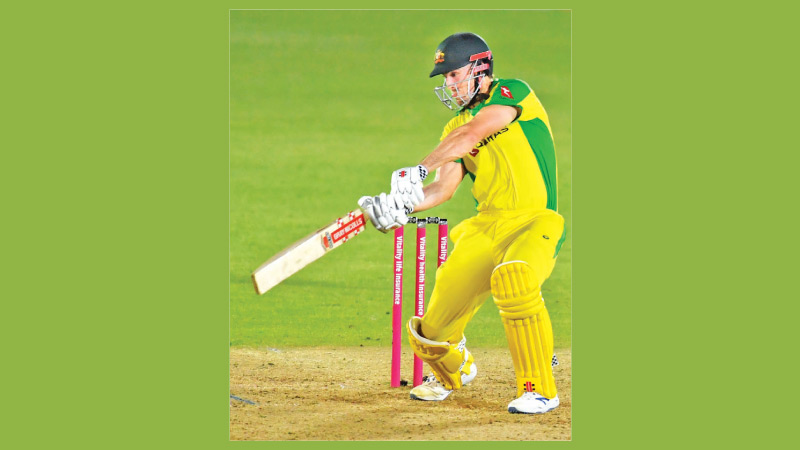 Australia's batsman Mitchell Marsh plays a shot during the international Twenty20 cricket match between England and Australia at the Ageas Bowl in Southampton, Southern England on September 8. AFP