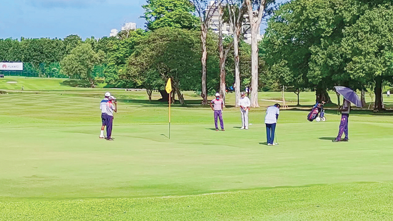Action from the Huawei Golf Tournament