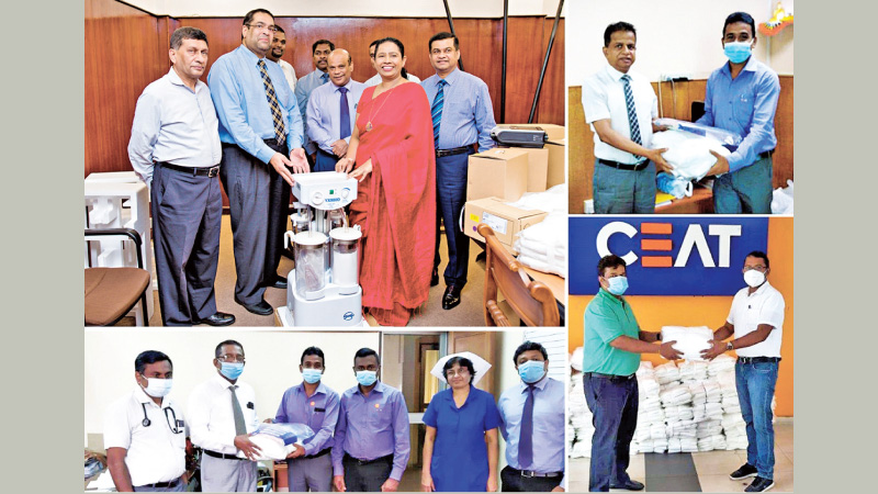 Some of the donations made by CEAT to state institutions involved in the battle against the spread of COVID-19