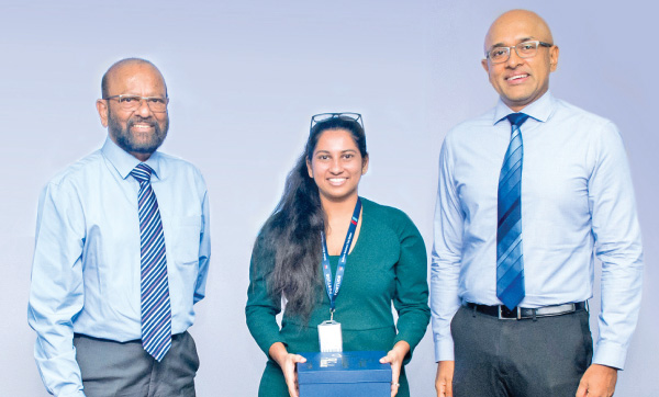 Dr. Gamini Wickramasinghe, Chairman, Informatics Group,  Natasha Hariharan, InfoSchol Associate and Trainee Consultant –  Application Support, Fortude and Arjuna Sirinanda, Managing  Director, Fortude.