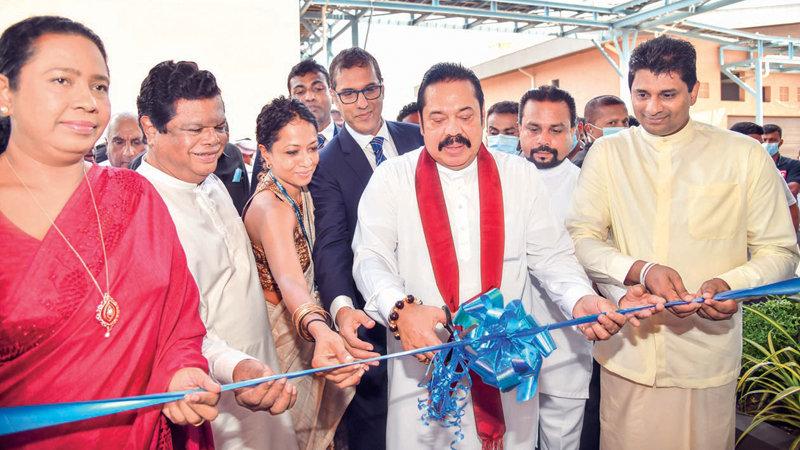 Prime Minister Mahinda Rajapaksa opening the event among other invitees