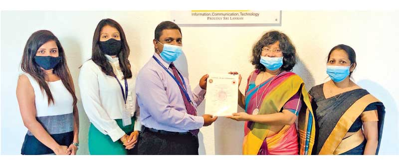 From left: Imalka Wijekoon, JIT's Assistant Manager – Business Process Transformation, Sherene Goonetileke – JIT's Chief Operating Officer, Chrishan Mendis – JIT's Chief Executive Officer, Siddhika G. Senrarathne - SLSI Director General and CEO and Ipsitha Jayasekera – SLSI, Director of Scientific Standards.