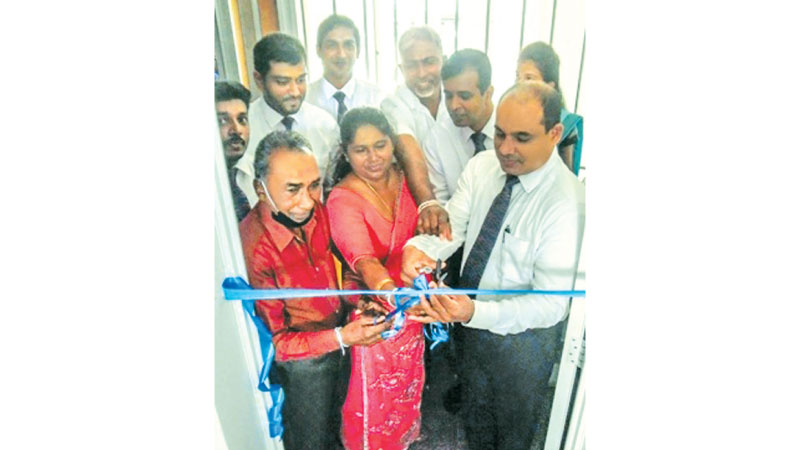 Officials of SANASA Life Insurance open the Matugama branch.
