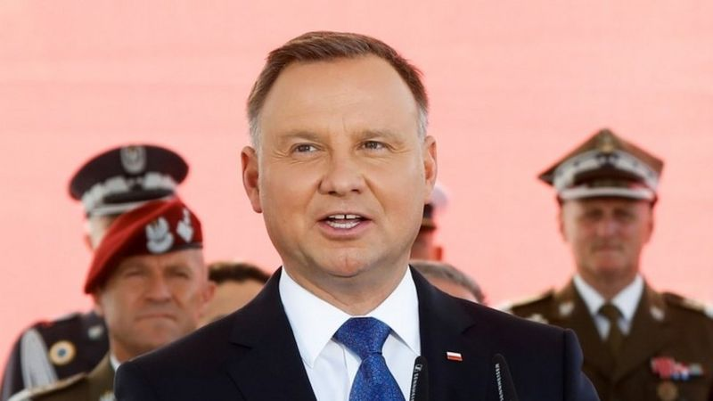 Poland's President Andrzej Duda quarantined at home after testing positive for Covid-19