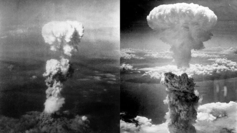 The nuclear explosion over Hiroshima