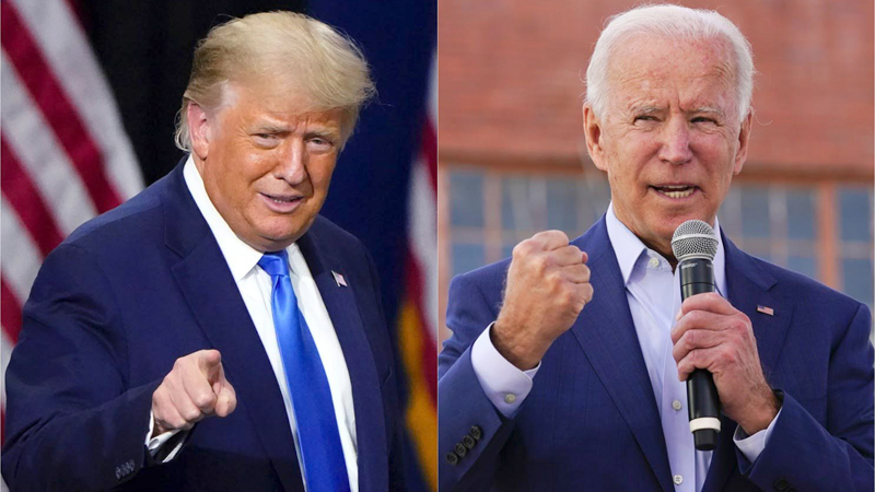US President Donald Trumph and Democratic Presidential Candidate Joe Biden.