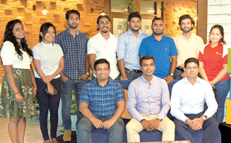 Team Creative headed by Duminda Prasad (Seated Middle) at Microsoft Sri Lanka office with Hasitha Abeywardena-Country Manager, Microsoft Sri Lanka & Maldives (Seated Right)