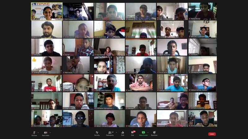 Some of the participants at the webinar