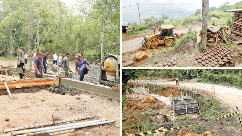 Development work in the Haldummulla area is continuing at a pace after President Gotabaya Rajapaksa's visit to the area a few months back where the President was privy to first hand information on the needs of the villagers in this area. (Pictures by Sagara Lakmal de Mel,President's Media)