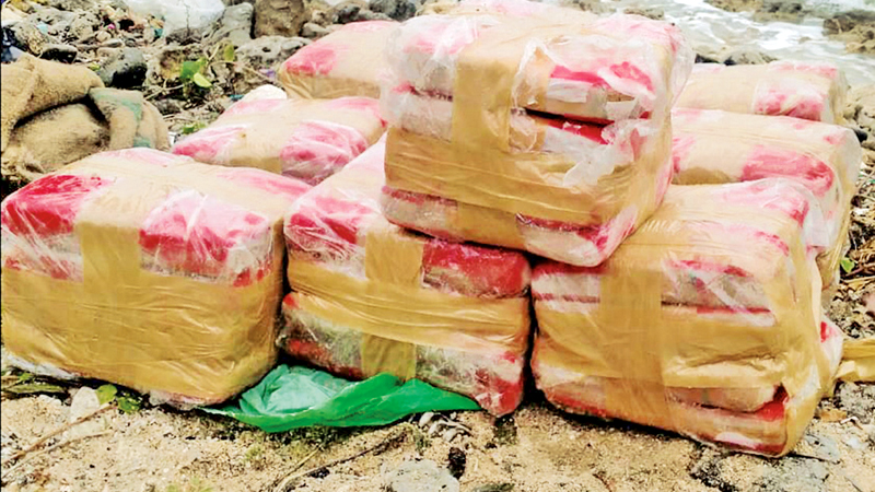 The parcels of Kerala cannabis