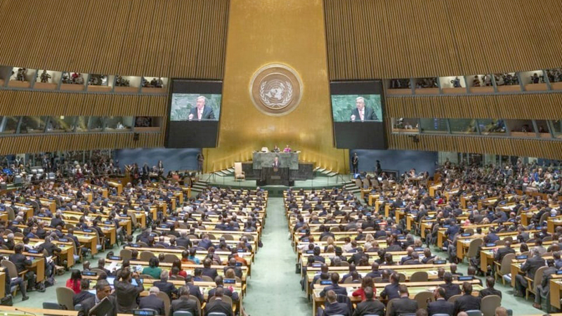 A UNGA session in progress.