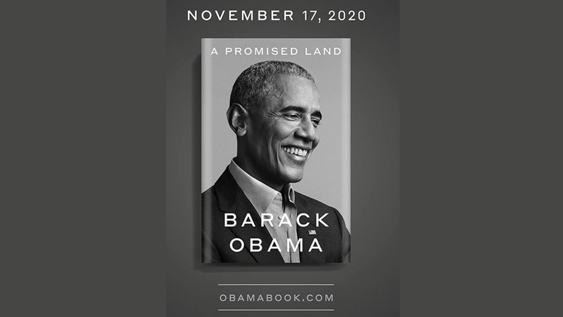 "The cover of former US President Barack Obama's book  ""A Promised Land"""