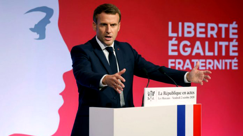 """French President Emmanuel Macron has announced a law against religious """"separatism""""."""