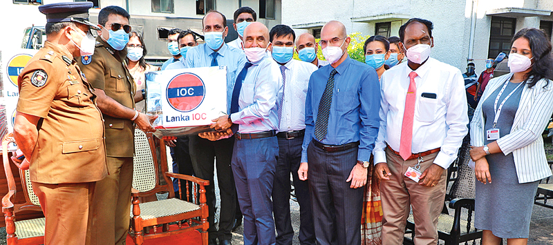 The handing over was done by Manoj Gupta, MD, Lanka IOC to DIG,Police  Ajith Rohana primarily for Field Force Headquarters of Sri Lanka Police where about 2000 Police personnel are deployed. Commandant Field Force Headquarters SSP Chandana J Kodituwakku was also present.