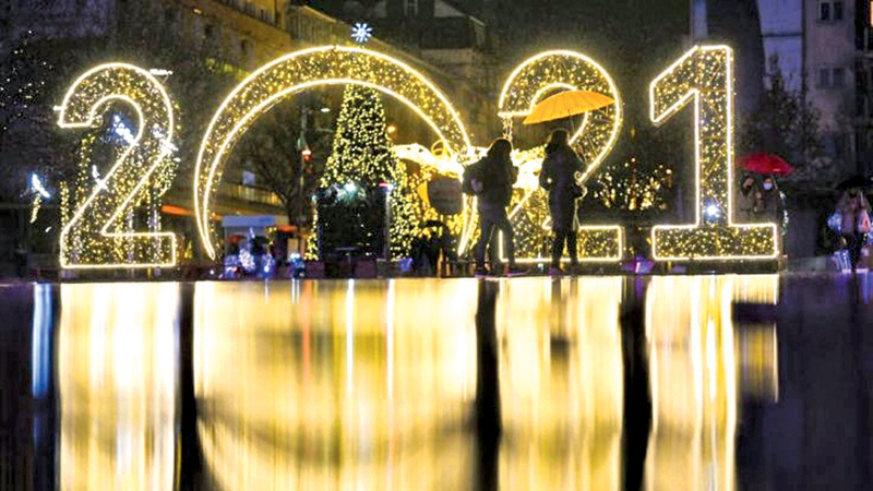 The New Year will be a time for many to reflect on the challenges of the past 12 months- AFP