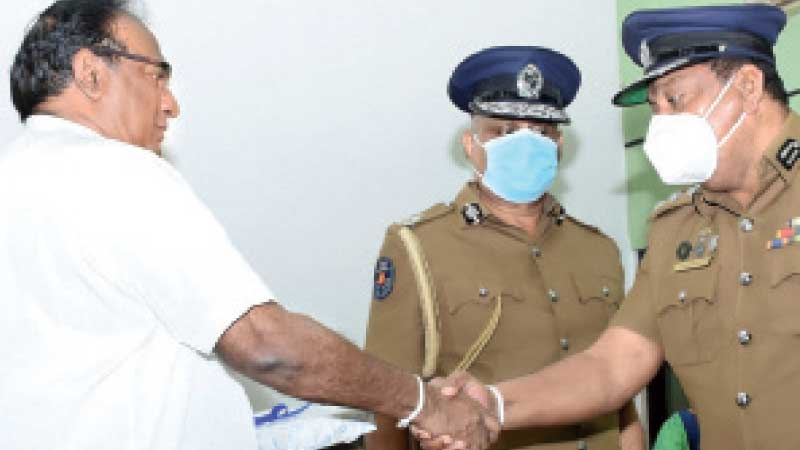 Tabs were presented to SSP trainers by Minister Weerasekara.