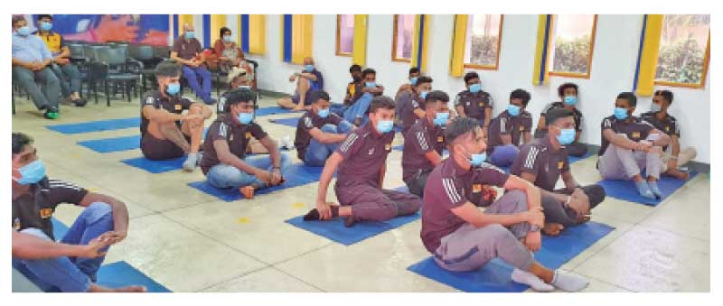 Sri Lanka National soccer players participating at the Zoom discussion
