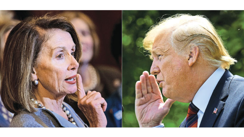 US Speaker of the House Nancy Pelosi and US President Donald Trump