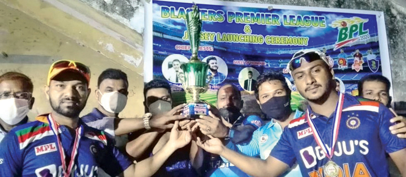 The Master Blaster Team, Sainthamaruthu team with the trophy