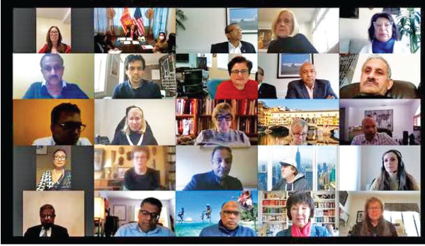 Embassy officials in participation