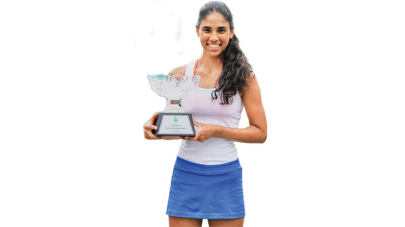 Anika  with the National singles trophy