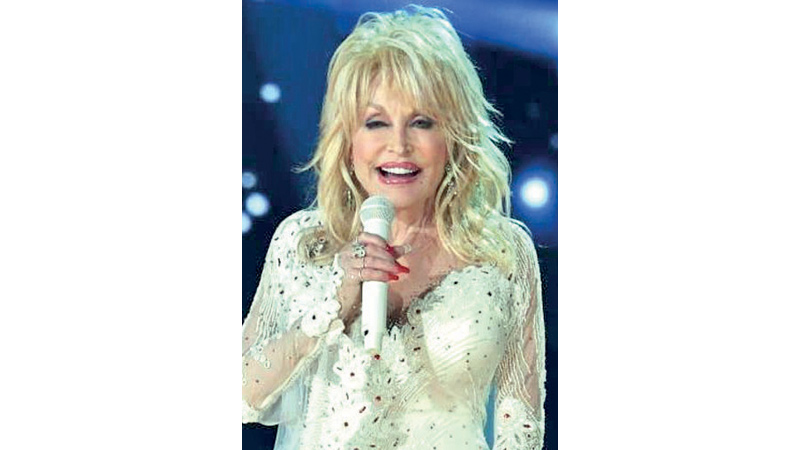 Singer Dolly Parton, pictured in February 2019 is up for her 50th Grammy Award nominatio.