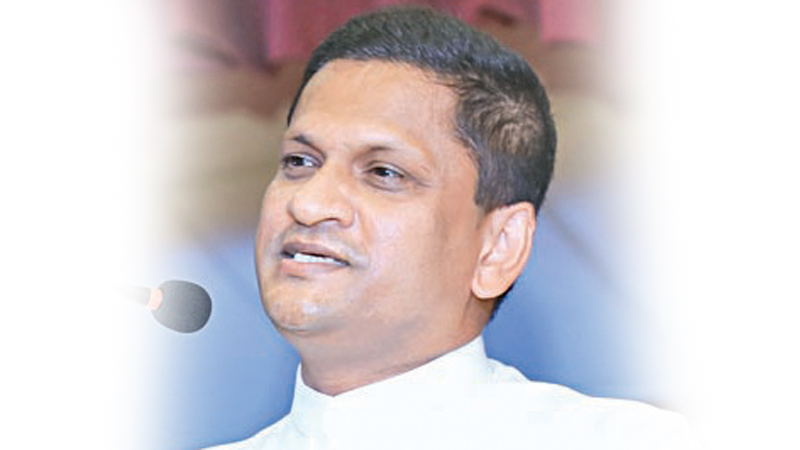 State Minister Nimal Lanza addressing the meeting.