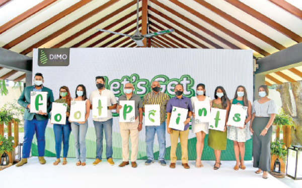 Management Representatives of DIMO together with the team of social media content creators at the launch of footprints.