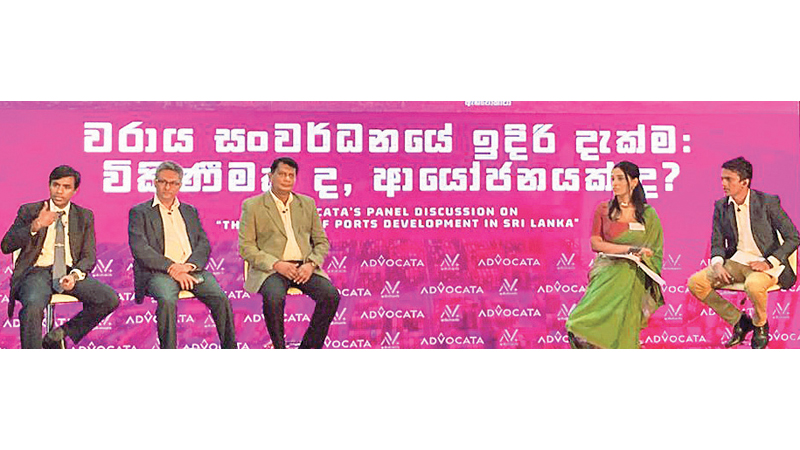 Panellists: State Minister, Dr. Nalaka Godahewa,  Rohan Masakorala and  Asanga Abeyagoonasekera and moderators at Advocata Institute hosted event.