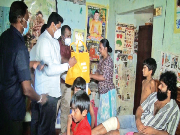 The family being visited by State Minister Channa Jayasumanna on the direction of SLPP founder Basil Rajapaksa.