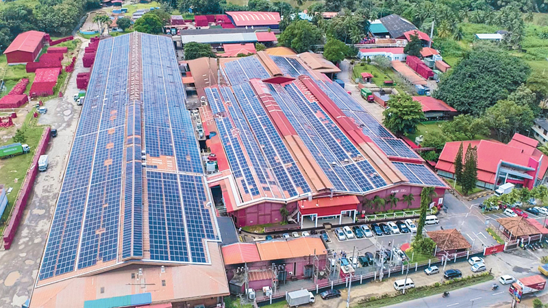 One of the largest single location rooftop solar projects in Sri Lanka at the Coca-Cola Beverages Sri Lanka Ltd. plant in Biyagama