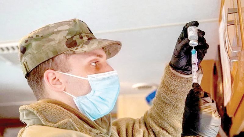 The Pentagon makes most standard vaccinations mandatory for military personnel.
