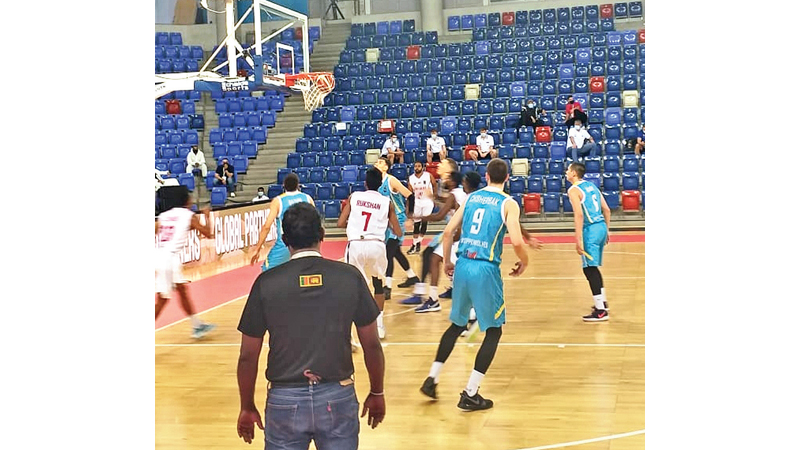 Action from the first match between Sri Lanka and Kazakhstan.