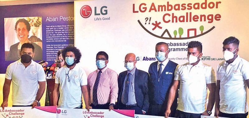 LG, Abans and KFHISL at the event. Picture by Dinesh Perera.
