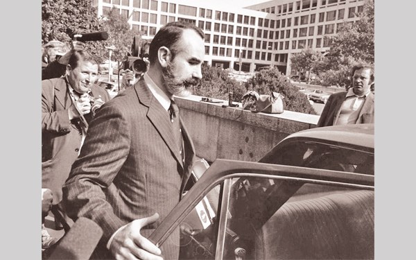 Gordon Liddy seen getting in to his car in this October 1974 photi, the year President Richard Nixon resigned from office.