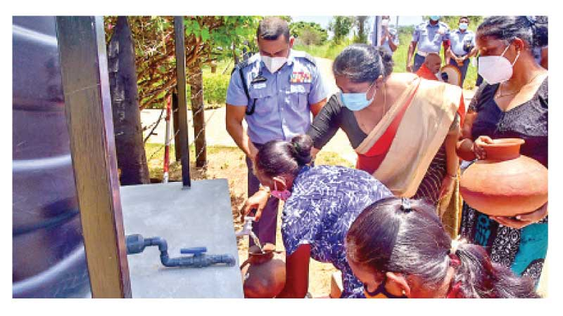 The Fifth leg of the Guwan Mithudam project was conducted at Sri Lanka Air Force Station Morawewa was held under the patronage of SLAF Seva Vanitha Unit Chairperson Mrs. Charmini Pathirana on Thursday.