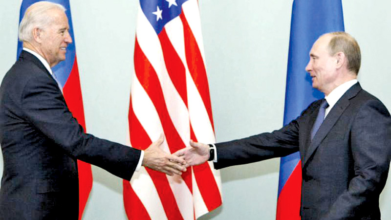 US President Biden and Russian President Vladimir Putin will have a summit next month in Geneva. This is not their first face-to-face meeting.  Here, President Putin greets then Vice President Biden in March 2011 in Moscow.