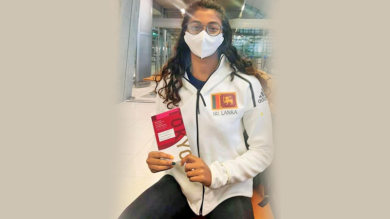 Aniqah Gaffoor on her way to the Olympic Village from Thailand