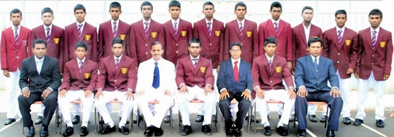 Dharmapala College team with Principal and officials