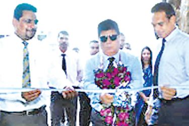 Opening of SMB Leasing Negombo Branch (L to R – A. Paraneetharan, Head of Marketing LAL,  Umesh Gautam, Chief Guest, Sumedha Fernando – CEO, SMBL)