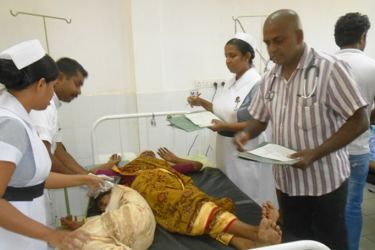 The injured persons are being treated at Kataragama Hospital. Picture by THENNAKOON BANDARA
