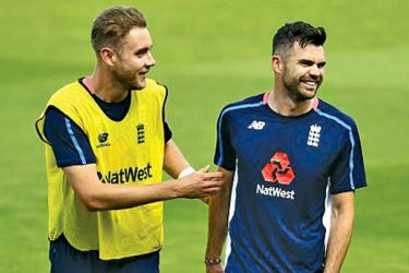 The England star jokes around with Stuart Broad as he looks to join an elite club