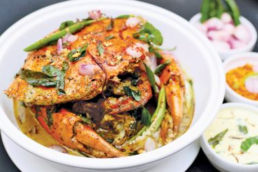 Crab curry with Murunga leaves