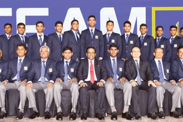 The Sri Lanka under 19 cricket team that will leave for Malaysia on November 8 to take part in the under 19 Youth Asia Cup.